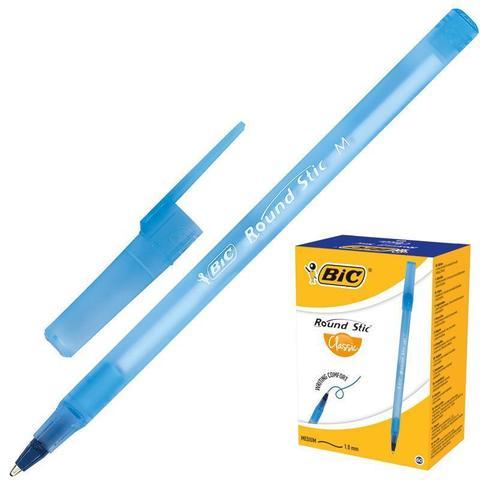 Ручка шариковая одноразовая BIC Round Stic синяя (толщина линии 0.4 мм)