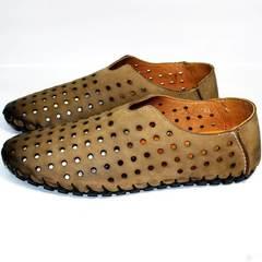 Мокасины мужские модные Luciano Bellini 107703 Beige.
