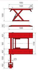 Подъёмник ножничный для автосервиса BUTLER Solidus 32M