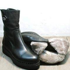 Модные полусапожки женские зимние G.U.E.R.O G019 8556 Black.