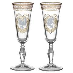 Набор бокалов 200 мл «Свадебная пара. Голуби» 2 шт подарочный, фото 3
