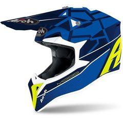 Кроссовый шлем Airoh Wraap Mood Синий Размер M (57-58)