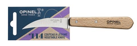 Нож для чистки овощей Opinel №114, деревянная рукоять, нерж.