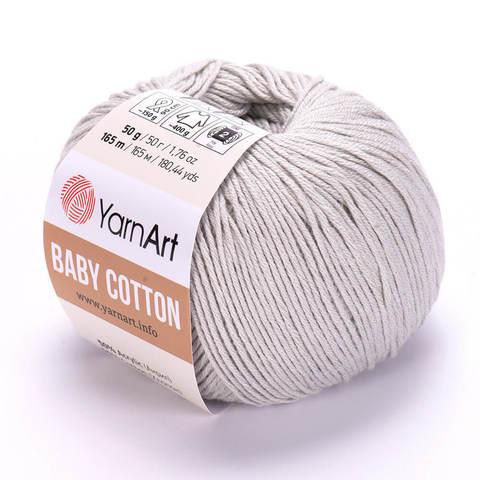 Пряжа Baby Cotton (Бэби Котон) Серый. Артикул: 451