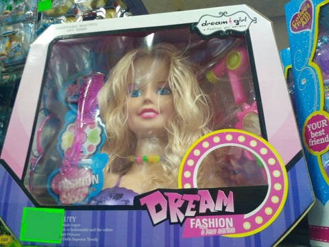 Голова куклы и набор средств ухода за волосами Dream Fashion