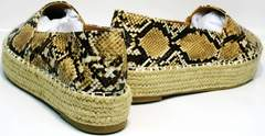 Слипоны на платформе Lily shoes Q38snake.