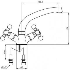 Смеситель Kaiser Carlson Lux 11061 для раковины схема