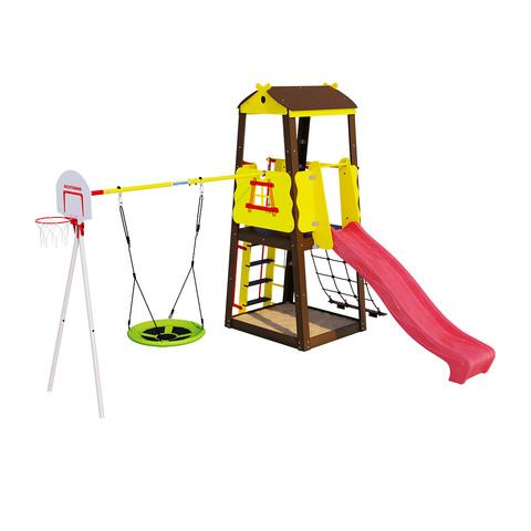 Детский спортивный комплекс для дачи ROMANA Избушка (Без фона)