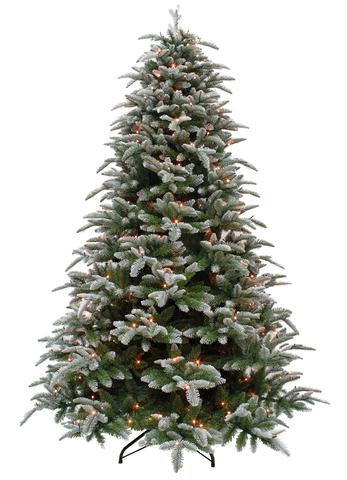 Triumph tree ель Нормандия пушистая (лампы) 1,85 м заснеженная