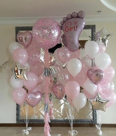 Набор воздушных шаров на выписку для девочки №3