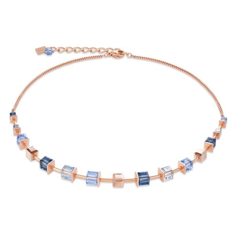 Колье Blue 4996/10-0700 цвет синий, золотой, голубой