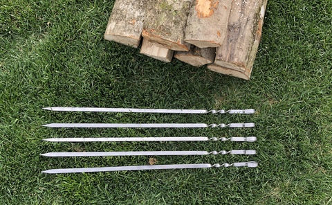 Шампур с железным кольцом 3мм (ширина 10мм) Морозко (без узора)