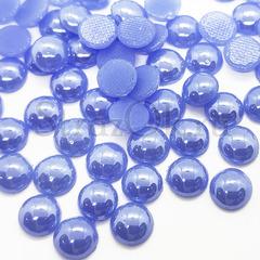 Купить оптом термоклеевой керамический полужемчуг голубой Light Sapphire