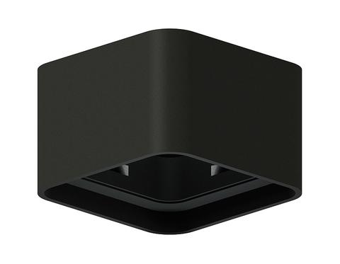 Корпус светильника накладной для насадок 70*70mm C7833 SBK черный песок 95*95*H60mm MR16 GU5.3