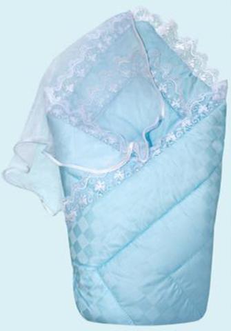 Конверт-одеяло на выписку сатин жакард