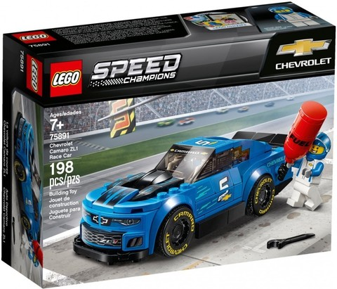 LEGO Speed Champions: Гоночный автомобиль Chevrolet Camaro ZL1 75891 — Chevrolet Camaro ZL1 Race Car — Лего Спид чампионс Чемпионы скорости
