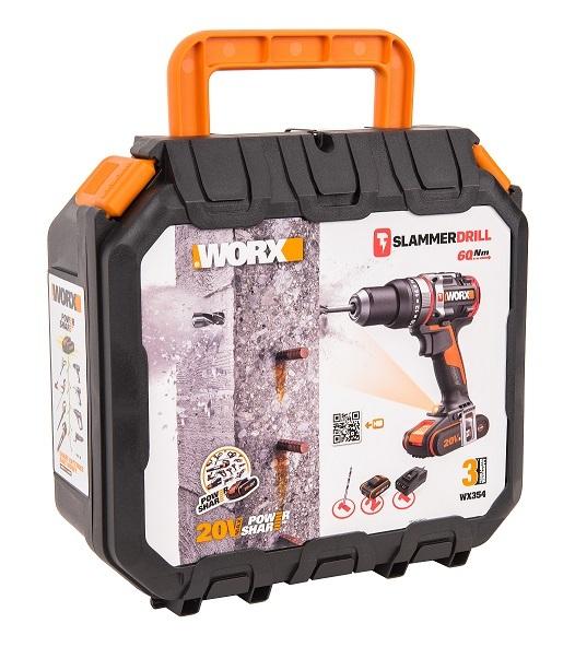 Дрель-шуруповерт ударная аккумуляторная WORX WX354