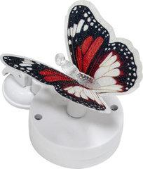 Светильник садово-парковый на присоске на солнечной батарее «Бабочка» красно-белыйй, 1 RGB LED, 46*30*42мм, PL264 (Feron)