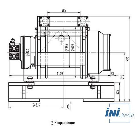 Гидравлическая лебедка ISYJ56-300-50-30-ZP (схема)