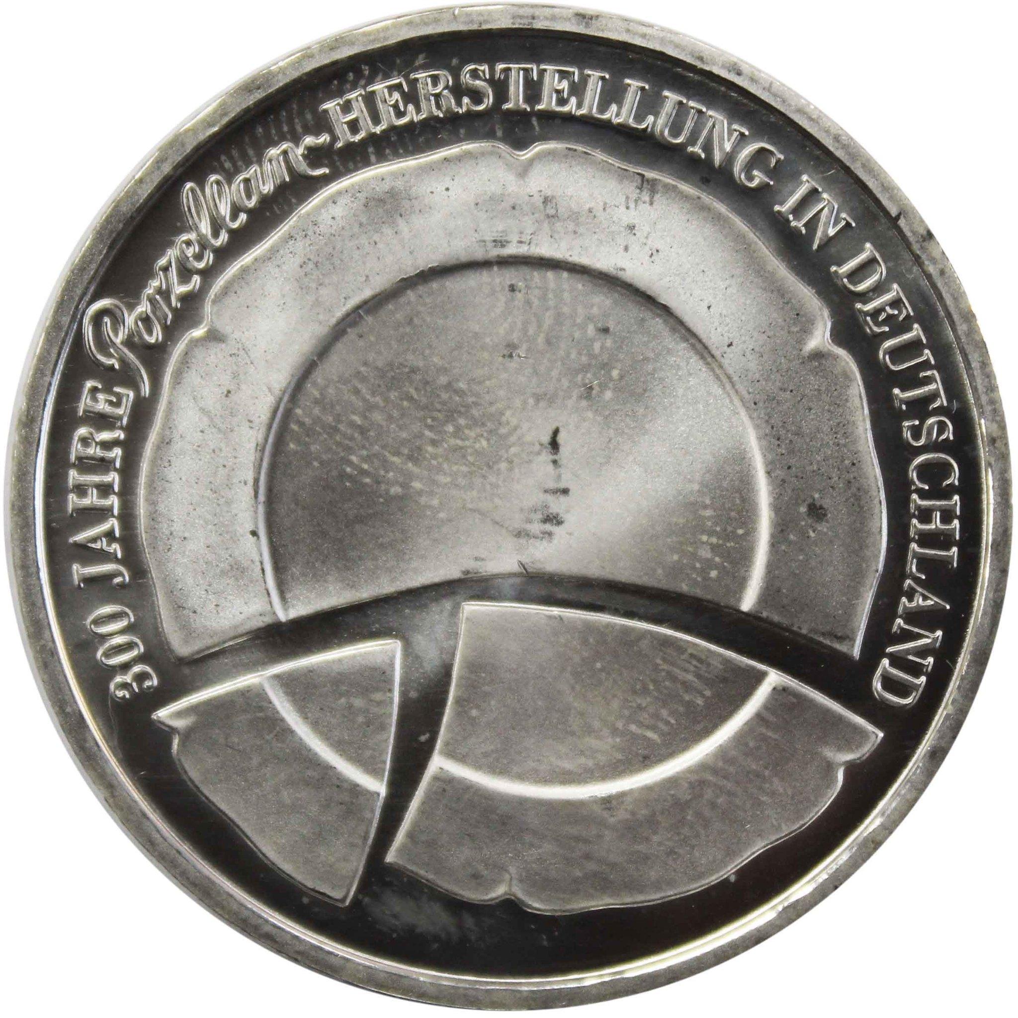 10 евро. 300 лет немецкому фарфору. Германия. 2010 год. Серебро