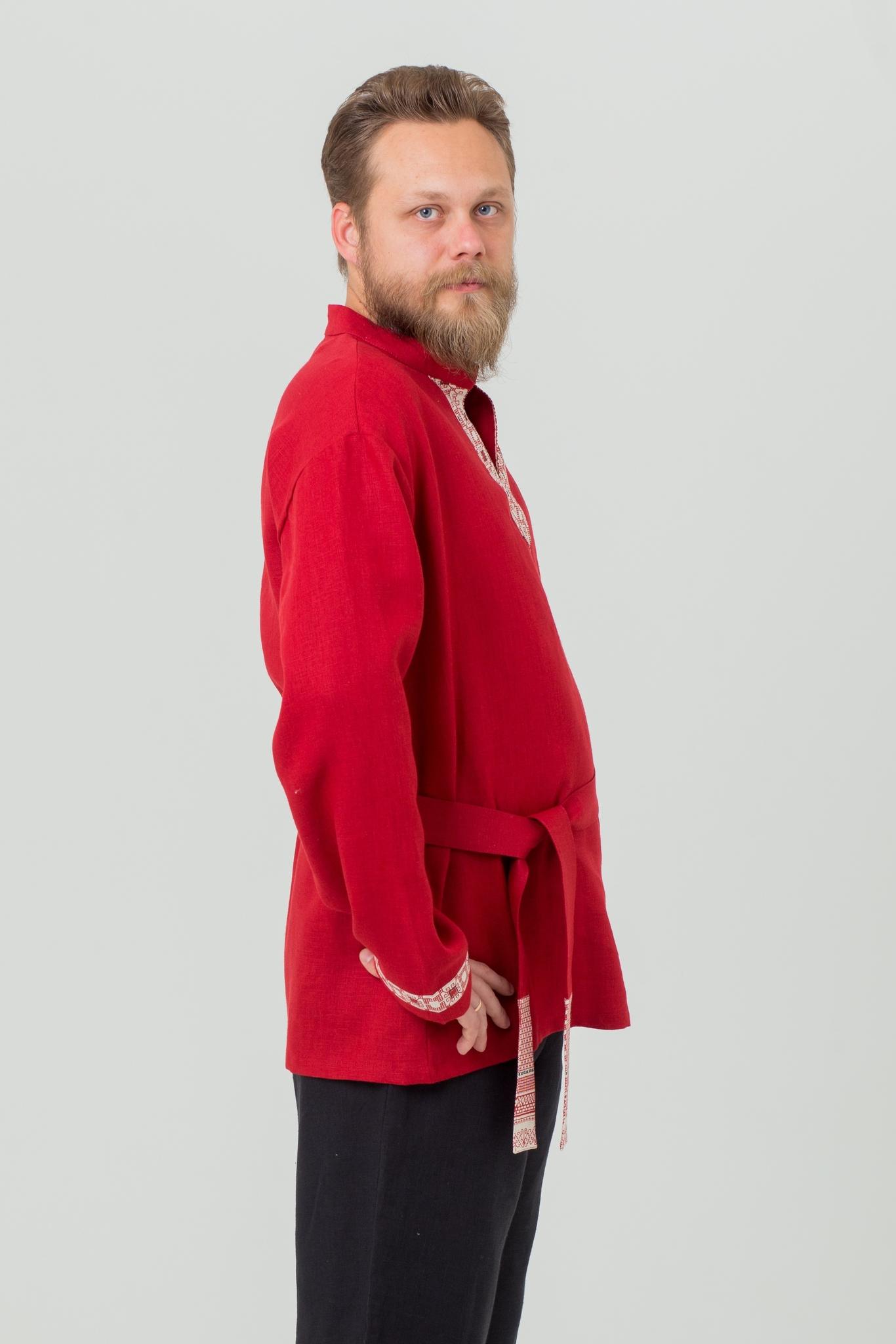 Рубаха Брусничный цвет купить