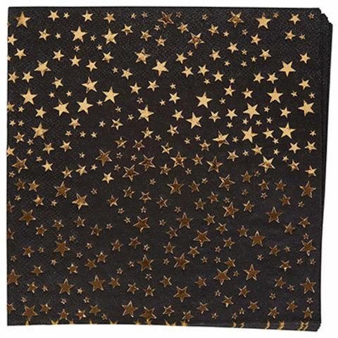 Салфетки Гламур Black & Gold, 16 штук
