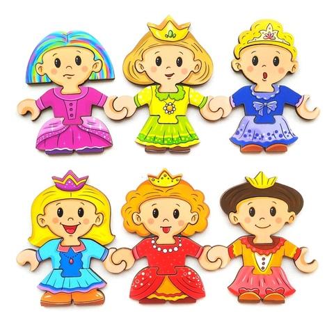 Пазл-конструктор собери персонажа Принцессы Leoboom П1005