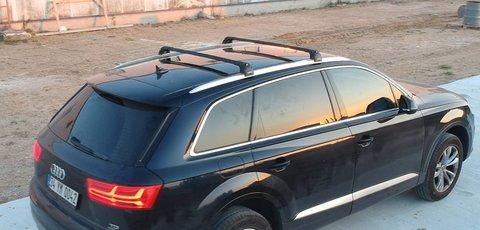 Багажник Turtle Air3 Black в штатные места Audi Q7 2015-... ( чёрный цвет)