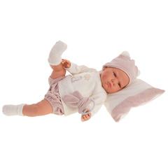 Munecas Antonio Juan Кукла Изабель в розовом, озвученная (детский лепет), 52 см (1956)