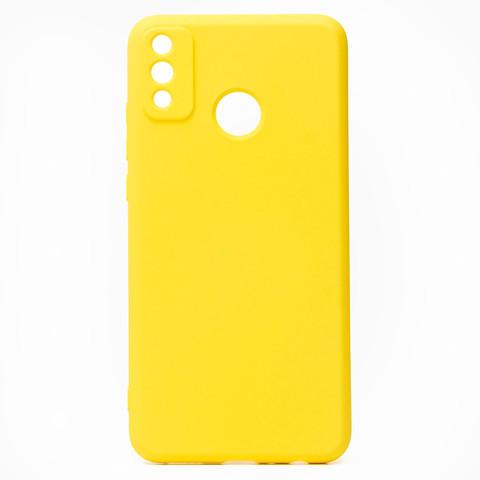 Чехол для Huawei Honor 9X Lite Софт тач мягкий эффект | микрофибра желтый