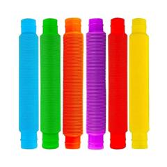Поп ит трубочки антистресс Pop Tube - набор 6 шт средние 20 см