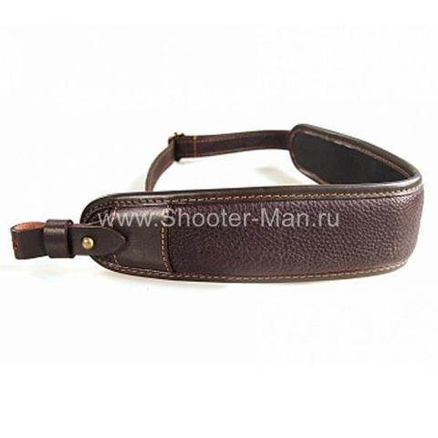 Ремень ружейный кожаный Люкс для гладкоствольного оружия Стич Профи