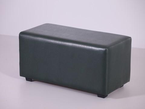 Пф-02 Пуфик прямоугольный (темно зеленый) для дома и магазина