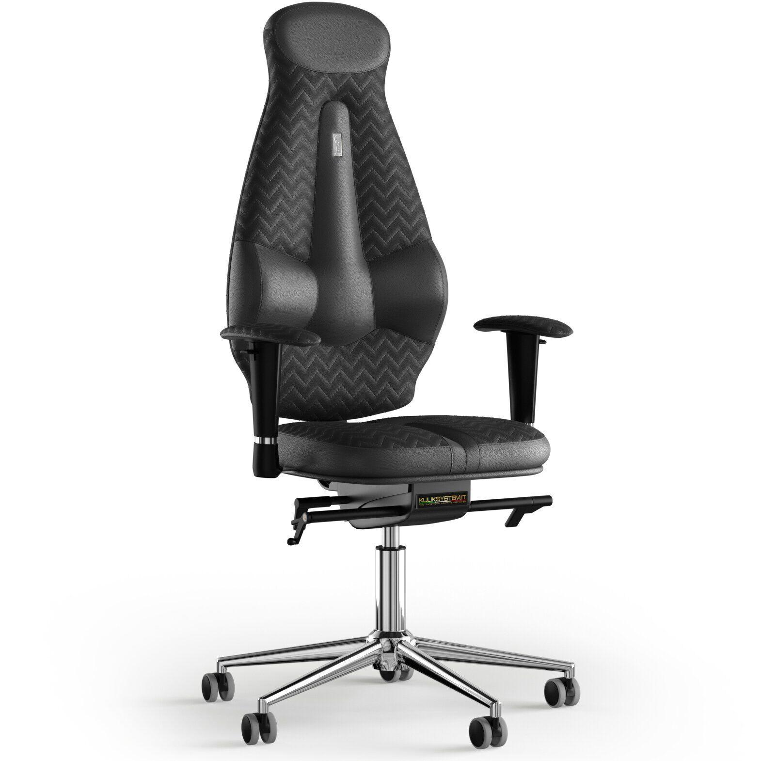 Кресло KULIK SYSTEM GALAXY Кожа с подголовником с дизайнерским швом