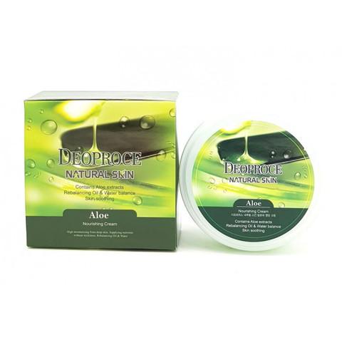 Deoproce Natural Skin Aloe Nourishing Cream крем для лица и тела с экстрактом сока алое