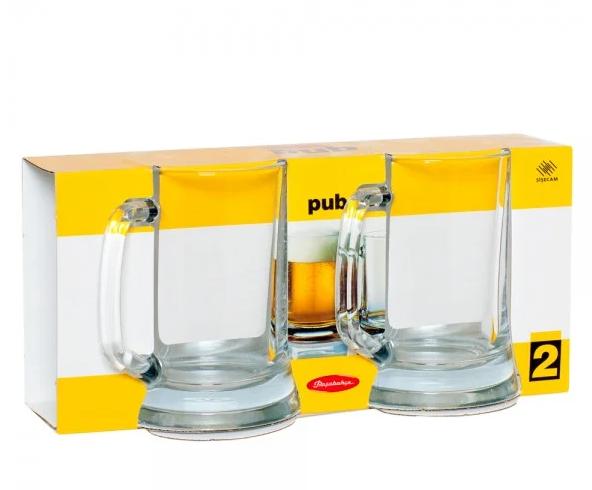 Кружки для пива Pasabahce Pub 670ml 2 шт. 55229-2