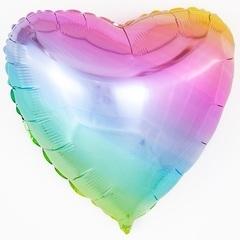 F Сердце 32''/81 см, Нежная радуга, Градиент, 1 шт.