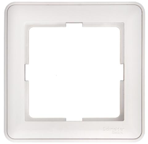 Рамка на 1 пост. Цвет Белый. Schneider Electric Wessen 59. KD-1-18