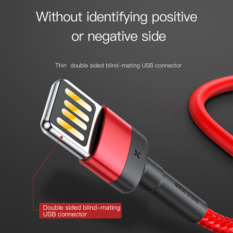 Кабель Baseus Cafule Cable(special edition)USB For iP 2.4A 1m Red