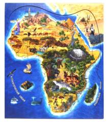 Деревянный пазл «Африка»