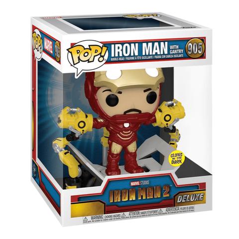 Фигурка Funko POP! Deluxe Bobble Marvel Iron Man 2 Iron Man Mark IV w/Gantry (MT) (GW) (Exc) 56772
