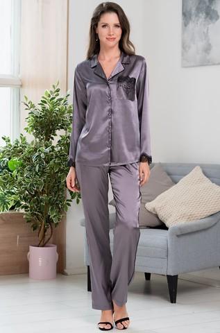Шелковый брючный комплект Mia-Amore  LAURA  ЛАУРА 3296 серый