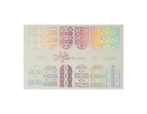 Фольга для дизайна ногтей серебро галогеновое 36 купить за 120руб