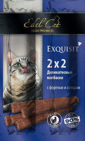 Лакомство Edel Cat деликатесные  колбаски мини с  форелью и солодом для взрослых кошек