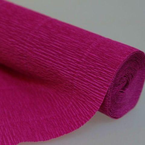 Бумага гофрированная, цвет 572 темно-малиновый, 180г, 50х250 см, Cartotecnica Rossi (Италия)
