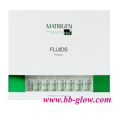 Очищающий флюид (для проблемной кожи) Matrigen Purifying Fluids 1 коробка 20 ампул по 2 мл.