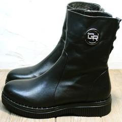Черные полусапожки женские зимние G.U.E.R.O G019 8556 Black.