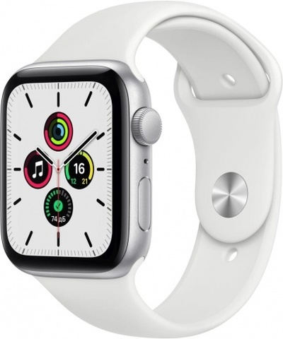 Часы Apple Watch SE, 44 мм, корпус из алюминия серебристого цвета