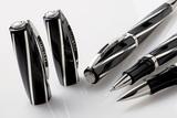 Visconti Divina Black Medium черная смола ребра серебро 925пр (Vs-268-02)