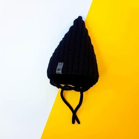 Шапка вязаная чёрная